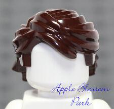 Lego Minifig Dark Brown Hair - Anakin Minifigure Boy/girl Long Head Gear