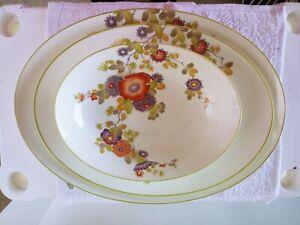 Mikasa-Bone-China-Peony-Serving-Plates-Set-A6-051-Narumi-Japan-White-Floral
