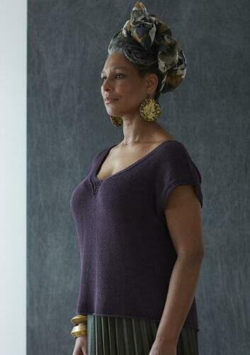 Erika Knight Ladies Studio Linen Small Hours Knitting Pattern