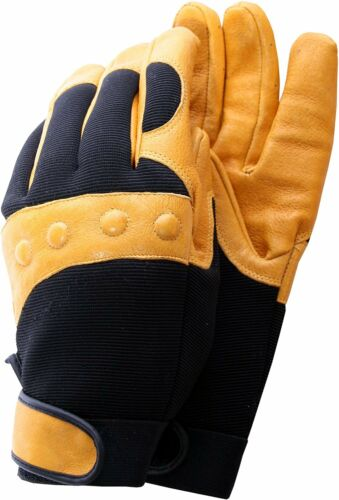 Town /& Country TGL432M Premium Leather Comfort Fit Navy//Tan Medium Mens Gloves