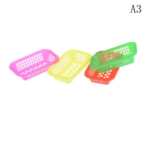 4PCS 1:12 Scale  Dolls House Miniature Plastic Basket Kitchen Accessories^YH
