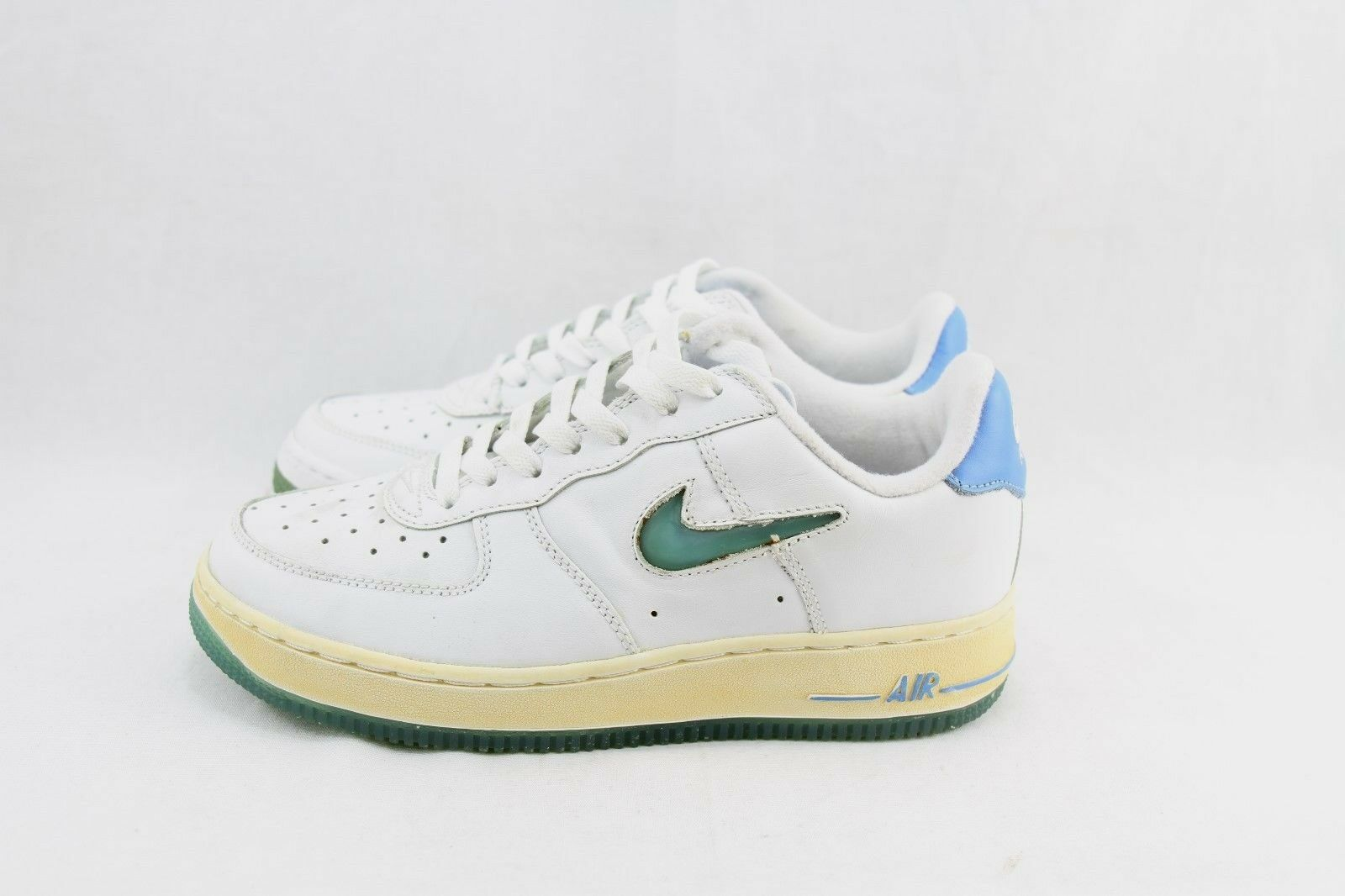 NIKE WMNS AIR FORCE 1 JSW 306511-141 WHITE WHITE WHITE UNIVERSITY blueE DEAD STOCK & YELLOWIN 269bf0