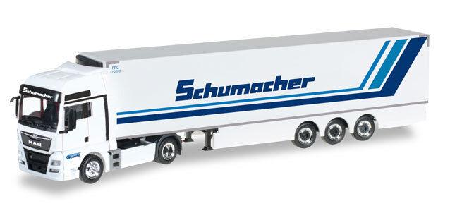 HERPA 306263 h0 CAMION MAN tgx xxl euro 6 Kühlkoffer-semi-remorque transporteur schumacher