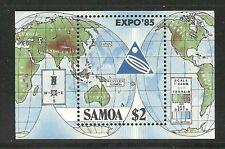 Album Treasures Samoa Scott # 654  Japan Expo '85 Mint NH
