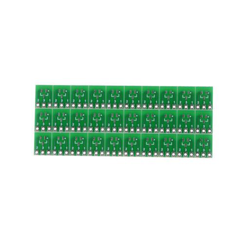 30 Stück 0,95 mm bis 2,54 mm SOT23 zu SIP3 Adapter SMD konvertieren Double I1