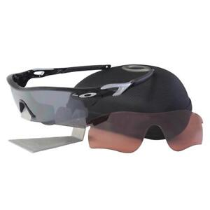 62a9bbebf6480 Oakley OO 9181-19 RADARLOCK PATH Polished Black Iridium VR28 Mens ...