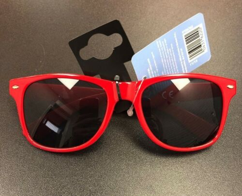 Sunglasses Mens 100/% UV protection Red Frame Summer holiday gift.
