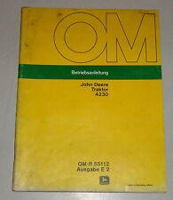 Betriebsanleitung / Handbuch John Deere Traktor 4230