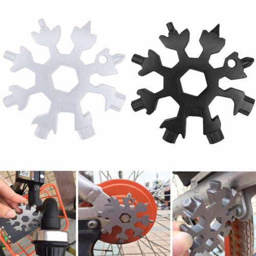 18 In 1 Multi-tool Card Combination Compact Portable Outdoor Snowflake Stainless