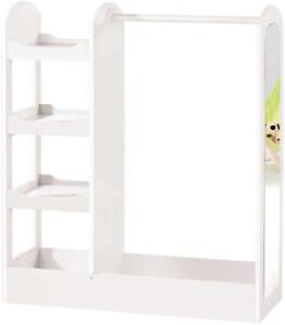 roba kindergarderobe garderobe mit ablagef chern kleiderstange spiegel holz wei ebay. Black Bedroom Furniture Sets. Home Design Ideas
