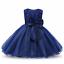 Filles-Demoiselle-D-039-Honneur-Robe-Bebe-Fleur-Kids-Party-Rose-Bow-Robes-de-mariee-princesse
