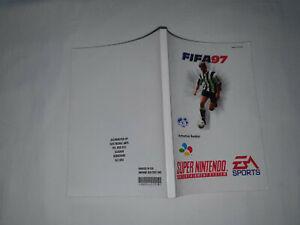 notice de jeu super nintendo snes FIFA 97