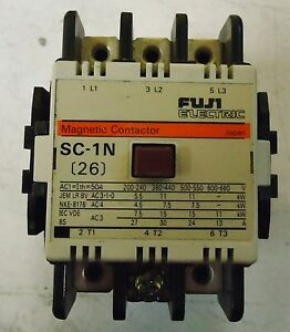 FUJI ELECTRIC MAGNETIC CONTACTOR TYPE SC-1N, CAT.#4NC0T0#, MADE IN JAPAN.