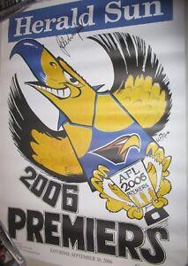 John-Worsfold-Premiership-Coach-signed-West-Coast-2006-Weg-Poster-COA-1132