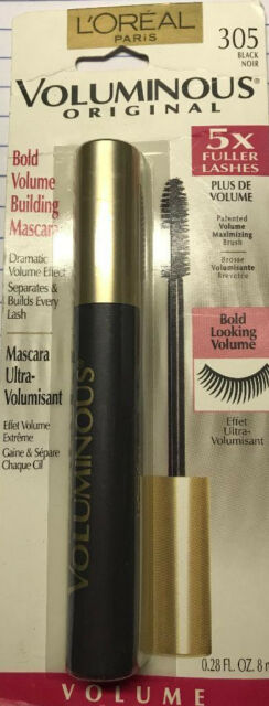 3b6ffb1158c L'OREAL VOLUMINOUS ORIGINAL MASCARA #355 SOFT BLACK 5X FULLER LASHES NEW  &SEALED