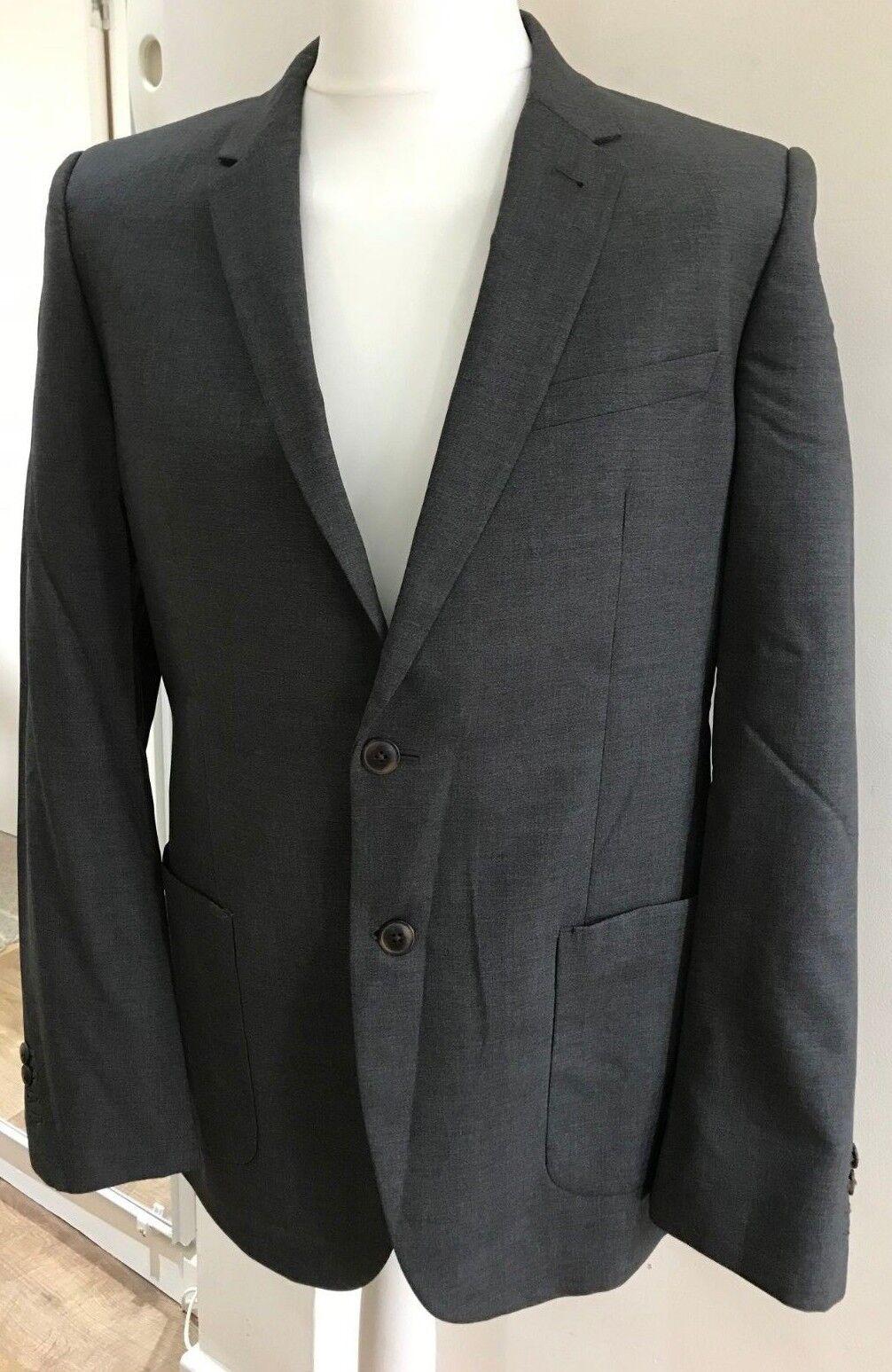 Costume LEWIS-Taille homme veste par JOHN LEWIS-Taille Costume 40R-BNWT-Seymour nattée SB2-Gris f3ed85