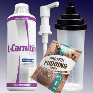 Best-Body-Nutrition-L-Carnitin-Liquid-1-Liter-Shaker-Pumpe-20g-Pudding