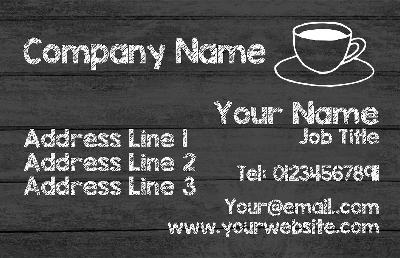 grau Wood Wood Wood Coffee Personalised Business Cards 9e3506