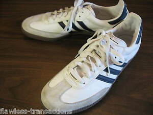 Image is loading ADIDAS-SAMBA-ORIGINALS-Men-White-Black-Trainers-Leather-