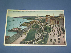 VINTAGE-1924-RIVERSIDE-DRIVE-NORTH-FROM-VIADUCT-CITY-NEW-YORK-POSTCARD
