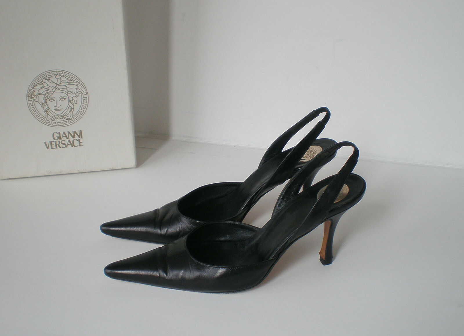 Gianni Versace Leather schuhe Heels with box, 100% Original, Größe  35.5