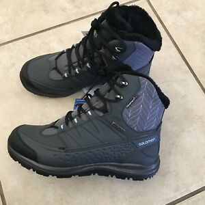 3f8c2517f6a Details about NEW Salomon Women Kaina Mid Snow Boot Waterproof Climashield  Size 10