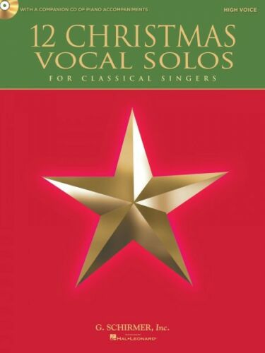 12 Christmas Vocal Solos for Classical Singers High Voice Book CD 050490610