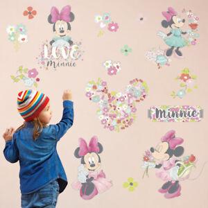 Kids Room Baby Decorate Wallpaper Princess Girls Bedroom Minnie Mouse Decals Art