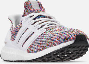 meet amazing price wide range Details about Men's Adidas Ultra Boost Running Shoes White / Multicolor  Blue / Red 9.5 CM8111