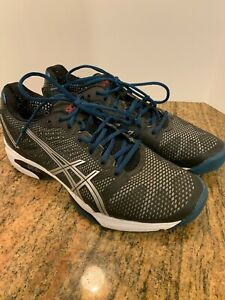 Men-039-s-Asics-Gel-Solution-Speed-3-Tennis-Shoes-Sneakers-Size-9-5-D-Gray-Black-M7