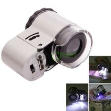 50X Jewelry Repair Magnifier Microscope Loupe Magnifying Glass with LED Light