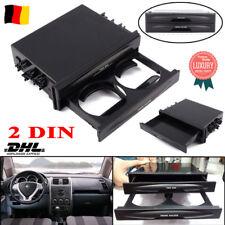 Universal 2-DIN Ablagefach Aufbewahrung Getränkehalter Becherhalter Auto KFZ AM