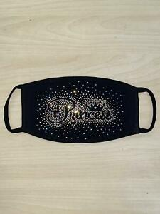 Face Mask Rhinestone Face Mask with Princess Scattered AB Design Made In USA