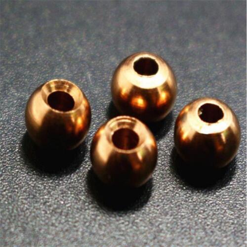 10pcs//set 2mm//2.5mm//3.5mm Brass Beads Fly Hooks Brass/&Copper Head Beads