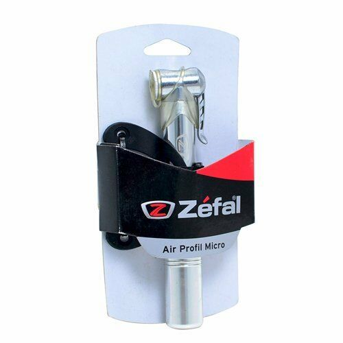 Road Bike Mini Frame Pump 100 PSI Silver ZEFAL Air Profil Micro MTB