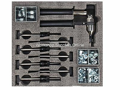 Ratchet Nutsert Tool Kit Metric & UNC Rivnut Rivet Nut Gun PNT210 Style Nut Set