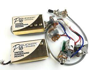 Epiphone-Pickups-Bucker-vintage-humbucking-golden-Socket-connection-circuit