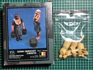 Humble Verlinden 275 - German Farmers Wife & Daughter - 1/35 Resin Kit Exquis (En) Finition