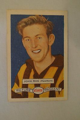 Hawthorn - 1958 - Vintage - Atlantic Football Card - John Peck.