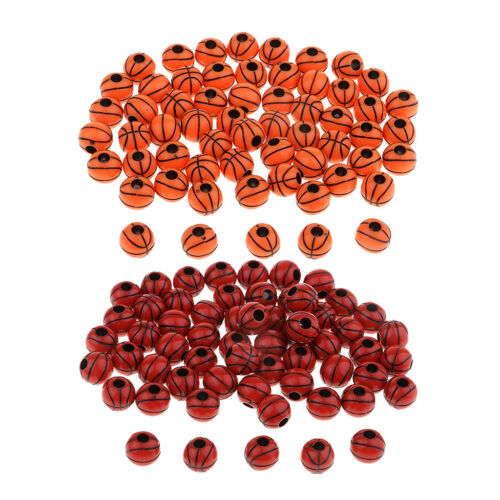 60pcs Two Color Resin Sports Basketball Beads for DIY Jewellery Making 12mm