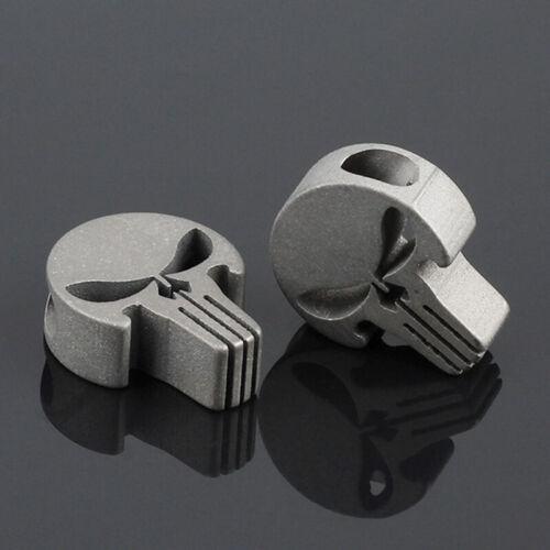 Alliage De Titane Crâne Punisher Accessoire À faire soi-même corde Pendentif EDC Paracord Beads