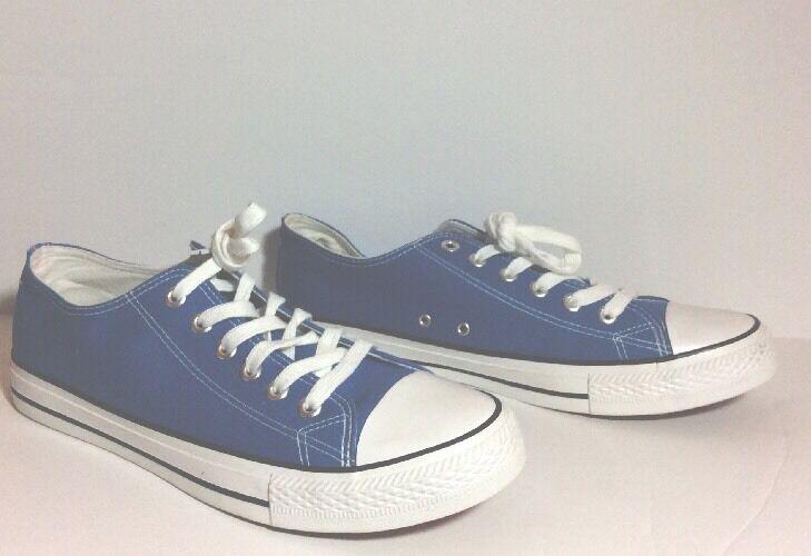 sale retailer fc8a3 f9d50 ... NWOB Facebook Limited Edition Blue Canvas Sneakers Men s Men s Men s  Size 12 HTF cdda21 ...