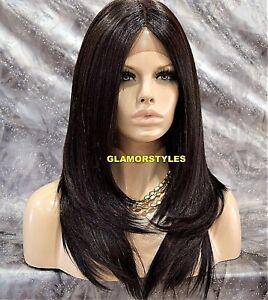 Straightened Long Layered Black Hair 9