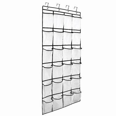 24 Pockets Plastic Rack Hanging Over The Door Shoe Organizer Heavy Duty Storage