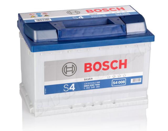 Autobatterie BOSCH  12V 74Ah 680 A/EN S4 008 74 Ah TOP ANGEBOT SOFORT & NEU