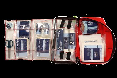 Bcb Salvagente #6 Kit Pronto Soccorso Aiuto D'emergenza Sopravvivenza Resistente All'acqua 60+ Articoli-