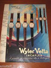 *249=WYLER VETTA OROLOGIO=ANNI '60=PUBBLICITA'=ADVERTISING=WERBUNG=PUBLICITE=