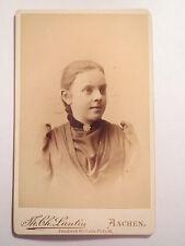 Aachen - Grete Lentzen geb. Belle - Tochter der geb. Luise Wiesenthal / CDV