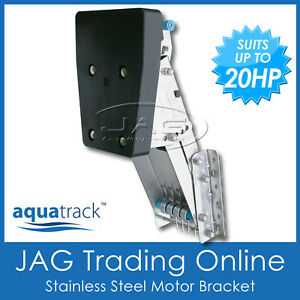 MARINE//BOAT 32kg STAINLESS STEEL OUTBOARD AUXILIARY MOTOR BRACKET UP TO 10HP