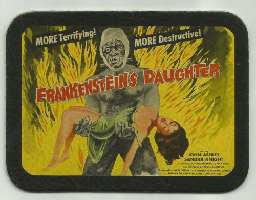 LEATHER FRANKENSTEINS DAUGHTER CULT CLASSIC HORROR FILM MOVIE POSTER BIKER PATCH